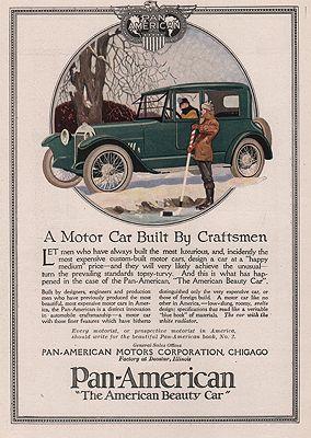 ORIG VINTAGE MAGAZINE AD/ 1917 PAN-AMERICAN MOTOR CAR ADillustrator- N/A - Product Image