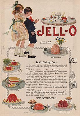 ORIG VINTAGE MAGAZINE AD/ 1918 JELL-O ADillustrator- N/A - Product Image