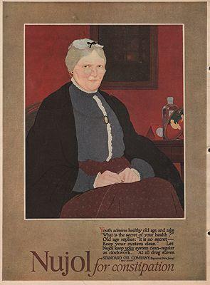 ORIG. VINTAGE MAGAZINE AD/ 1918 NUJOL LAXATIVE ADillustrator- N/A - Product Image