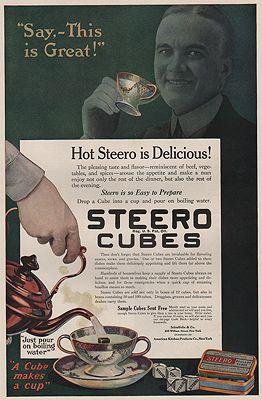 ORIG VINTAGE MAGAZINE AD/ 1918 STEERO BOUILLON CUBES ADillustrator- N/A - Product Image