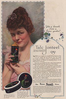 ORIG VINTAGE MAGAZINE AD/ 1918 TALC JONTEEL ADillustrator- N/A - Product Image