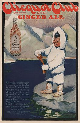 ORIG. VINTAGE MAGAZINE AD/ 1919 CLICQUOT CLUB GINGER ALE ADillustrator- N/A - Product Image
