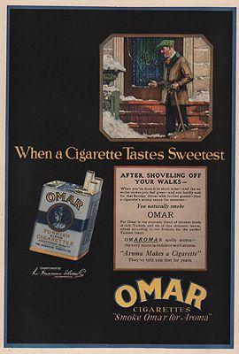 ORIG VINTAGE MAGAZINE AD/ 1919 OMAR CIGARETTES ADN/A - Product Image