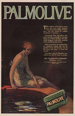 ORIG. VINTAGE MAGAZINE AD/ 1919 PALMOLIVE SOAP ADillustrator- N/A - Product Image
