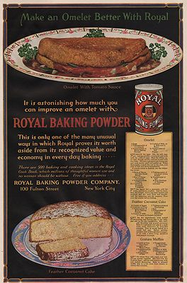 ORIG. VINTAGE MAGAZINE AD: 1919 ROYAL BAKING POWDER ADillustrator- N/A - Product Image