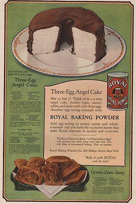 ORIG. VINTAGE MAGAZINE AD: 1919 ROYAL BAKING POWDER ADillustrator- N/A - Product Image