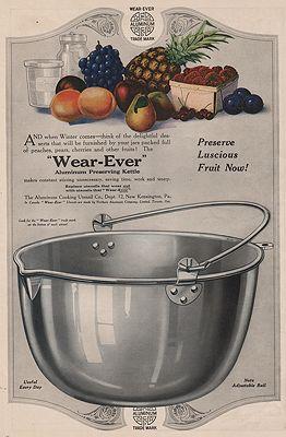 ORIG. VINTAGE MAGAZINE AD: 1919 WEAR-EVER ALUMINUM KETTLE ADillustrator- N/A - Product Image