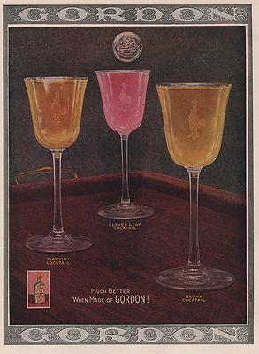 ORIG VINTAGE MAGAZINE AD/ 1920 GORDON GIN ADN/A - Product Image