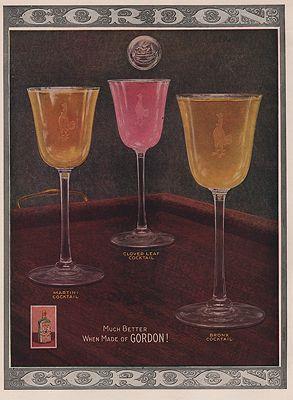 ORIG VINTAGE MAGAZINE AD/ 1920 GORDON GIN ADN/A - Product Image