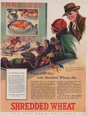 ORIG VINTAGE MAGAZINE AD/ 1920s SHREDDED WHEAT ADillustrator- N/A - Product Image