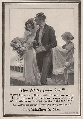ORIG VINTAGE MAGAZINE AD/ 1922 HART SCHAFFNER & MARXillustrator- S.N.  Abbott - Product Image