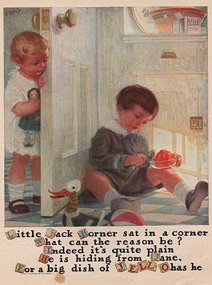 ORIG. VINTAGE MAGAZINE AD: 1922 JELL-O ADillustrator- Linn  Ball - Product Image