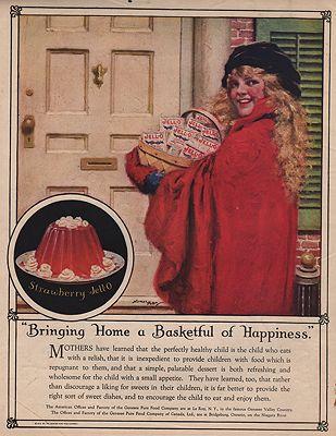 ORIG. VINTAGE MAGAZINE AD: 1922 JELL-O ADillustrator- Norman  Price - Product Image