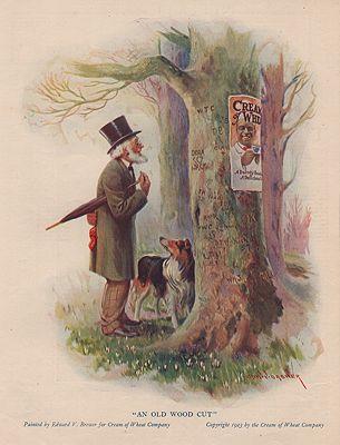 ORIG. VINTAGE MAGAZINE AD: 1923 CREAM OF WHEAT ADillustrator- Edward  Brewer - Product Image