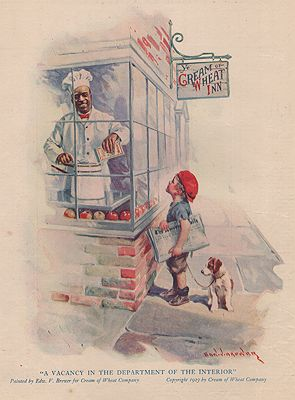 ORIG. VINTAGE MAGAZINE AD: 1923 CREAM OF WHEAT ADillustrator- Edward  Brewer - Product Image