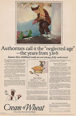 ORIG VINTAGE MAGAZINE AD/ 1923 CREAM OF WHEAT CEREAL ADillustrator- Frank  Hoffman - Product Image