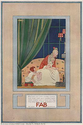 ORIG VINTAGE MAGAZINE AD/ 1923 FAB SOAP FLAKES ADillustrator- Henriette Willebeek  La Mair (Saida) - Product Image