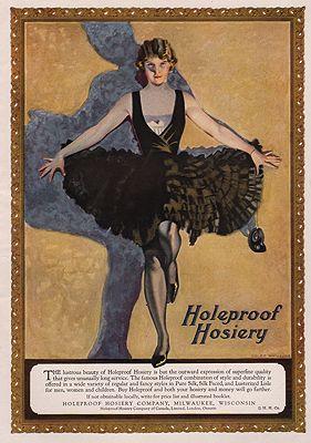 ORIG. VINTAGE MAGAZINE AD: 1923 HOLEPROOF HOSIERY ADillustrator- Coles  Phillips - Product Image