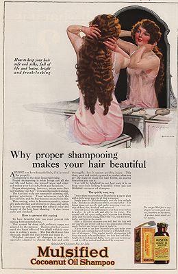 ORIG VINTAGE MAGAZINE AD/ 1923 MULSIFIED SHAMPOO ADillustrator- Will  Grefe - Product Image