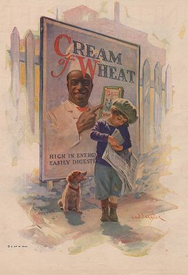 ORIG. VINTAGE MAGAZINE AD: 1924 CREAM OF WHEAT ADillustrator- Edward  Brewer - Product Image