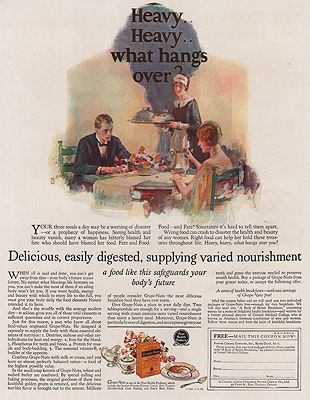 ORIG VINTAGE MAGAZINE AD/ 1925 GRAPE NUTS CEREAL ADillustrator- Dean  Cornwell - Product Image