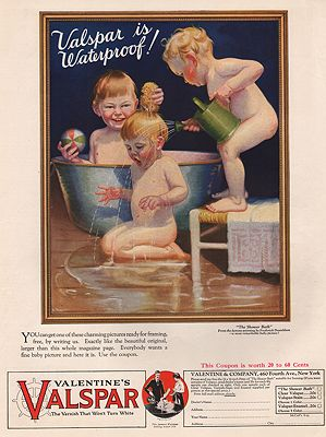 ORIG VINTAGE MAGAZINE AD/ 1925 VALSPAR VARNISH ADillustrator- Frederick   Donaldson - Product Image