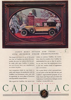 ORIG VINTAGE MAGAZINE AD/ 1926 CADILLAC CAR ADillustrator- N/A - Product Image