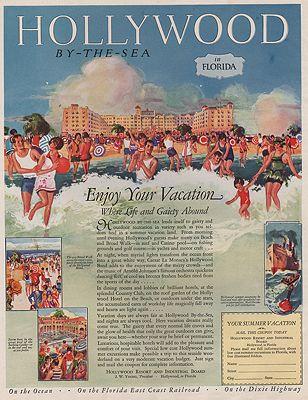 ORIG VINTAGE MAGAZINE AD/ 1926 HOLLYWOOD FLORIDA TRAVEL ADillustrator- N/A - Product Image