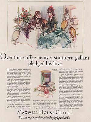 ORIG VINTAGE MAGAZINE AD/ 1926 MAXWELL HOUSE COFFEE ADillustrator- Henry  Raleigh - Product Image