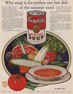 ORIG VINTAGE MAGAZINE AD/ 1927 CAMPBELL'S SOUP ADillustrator- N/A - Product Image