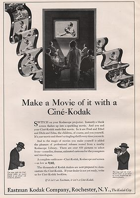 ORIG. VINTAGE MAGAZINE AD: 1927 EASTMAN-KODAK ADillustrator- N/A - Product Image