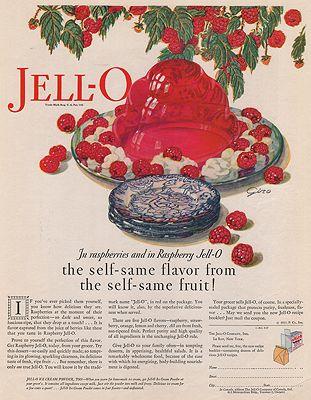 ORIG VINTAGE MAGAZINE AD/ 1927 JELL-O ADillustrator- N/A - Product Image