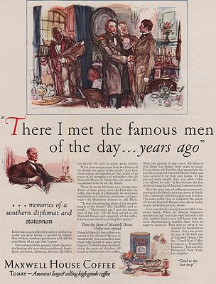 ORIG VINTAGE MAGAZINE AD/ 1927 MAXWELL HOUSE COFFEE ADillustrator- Henry  Raleigh - Product Image