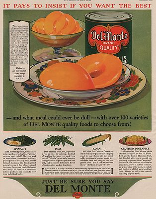 ORIG VINTAGE MAGAZINE AD/ 1928 DEL MONTE ADillustrator- N/A - Product Image