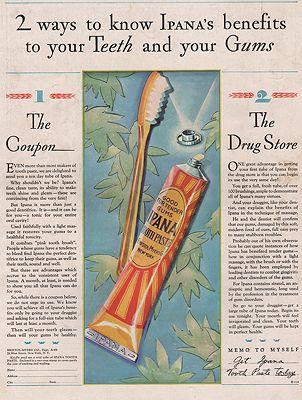 ORIG VINTAGE MAGAZINE AD/ 1928 IPANA TOOTHPASTE ADillustrator- N/A - Product Image