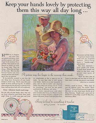 ORIG VINTAGE MAGAZINE AD/ 1928 IVORY SOAP ADillustrator- Harry Morse  Meyer - Product Image