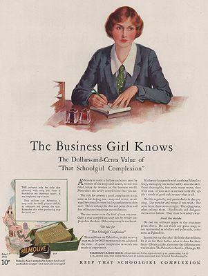 ORIG VINTAGE MAGAZINE AD/ 1928 PALMOLIVE SOAP ADillustrator- Haddon  Sundblom - Product Image
