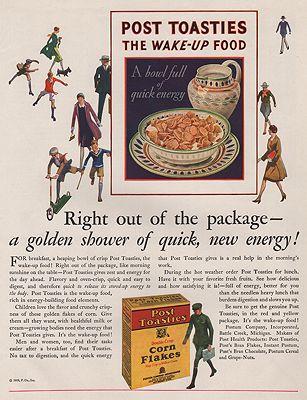 ORIG VINTAGE MAGAZINE AD/ 1928 POST TOASTIES CEREAL ADillustrator- N/A - Product Image