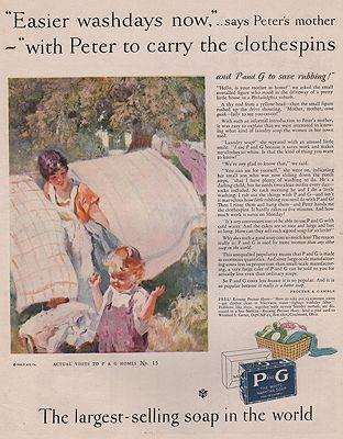 ORIG VINTAGE MAGAZINE AD/ 1928 PROCTOR & GAMBLE SOAP ADillustrator- Haddon  Sunblom - Product Image