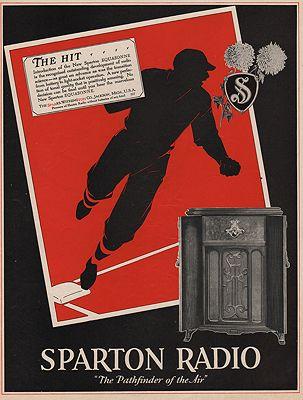 ORIG VINTAGE MAGAZINE AD/ 1928 SPARTON RADIO ADillustrator- N/A - Product Image