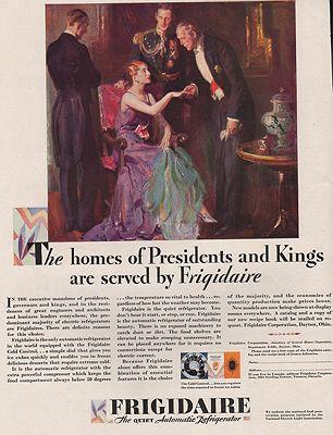 ORIG VINTAGE MAGAZINE AD/ 1929 FRIGIDAIRE REFRIGERATOR ADillustrator- Pruett  Carter - Product Image
