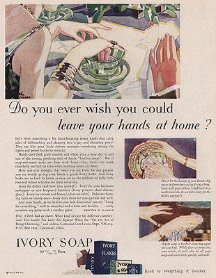 ORIG VINTAGE MAGAZINE AD/ 1929 IVORY SOAP ADillustrator- N/A - Product Image
