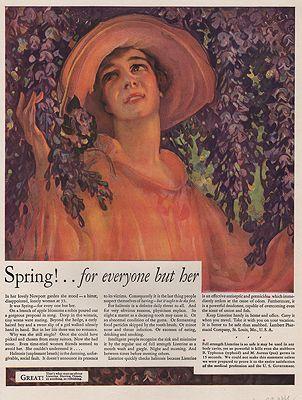 ORIG VINTAGE MAGAZINE AD/ 1929 LISTERINE ADillustrator- N/A - Product Image