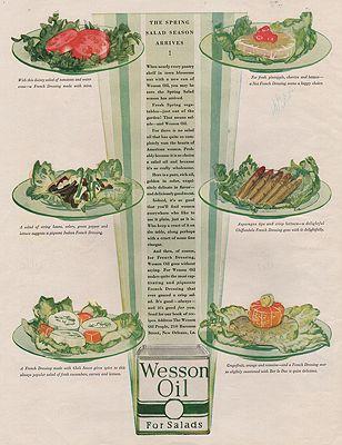 ORIG VINTAGE MAGAZINE AD/ 1929 WESSON OIL ADillustrator- N/A - Product Image