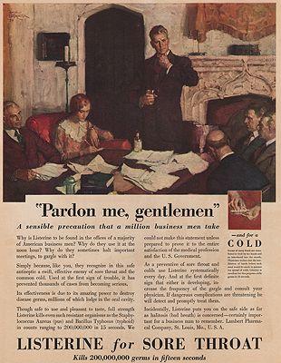 ORIG VINTAGE MAGAZINE AD/ 1930 LISTERINE ADillustrator- Saul  Tepper - Product Image