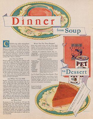 ORIG VINTAGE MAGAZINE AD/ 1930 PET MILK ADillustrator- Martin  Kaiser - Product Image