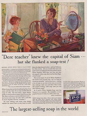 ORIG VINTAGE MAGAZINE AD/ 1930 PROCTOR & GAMBLE SOAP ADillustrator- Haddon  Sundblom - Product Image