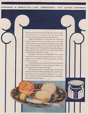 ORIG VINTAGE MAGAZINE AD/ 1930 SNOWDRIFT ADillustrator- Rene  Clarke - Product Image