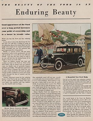 ORIG VINTAGE MAGAZINE AD/ 1931 FORD CAR ADillustrator- James  Williamson - Product Image