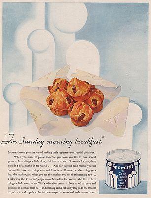 ORIG VINTAGE MAGAZINE AD/ 1931 SNOWDRIFT SHORTENING ADillustrator- N/A - Product Image